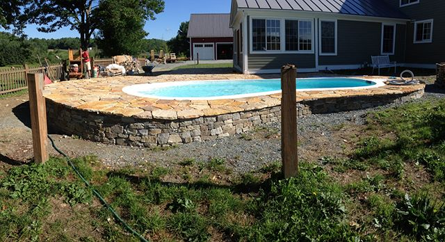 Making dream pools, one stone at a time @allinstonevt . . . #Luxury #pool #summer #perfect #stone