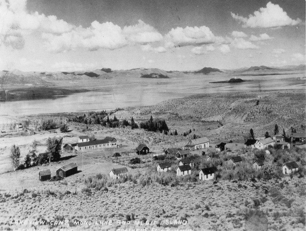 """Lakeview Camp,"" later Leevining, 1927"