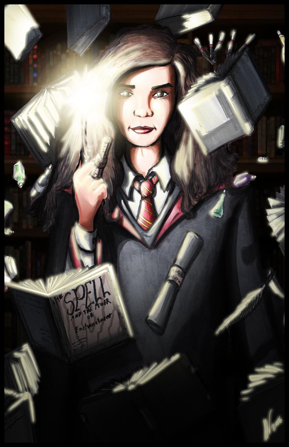 Hermione Granger - Bookwork 11x17.jpg