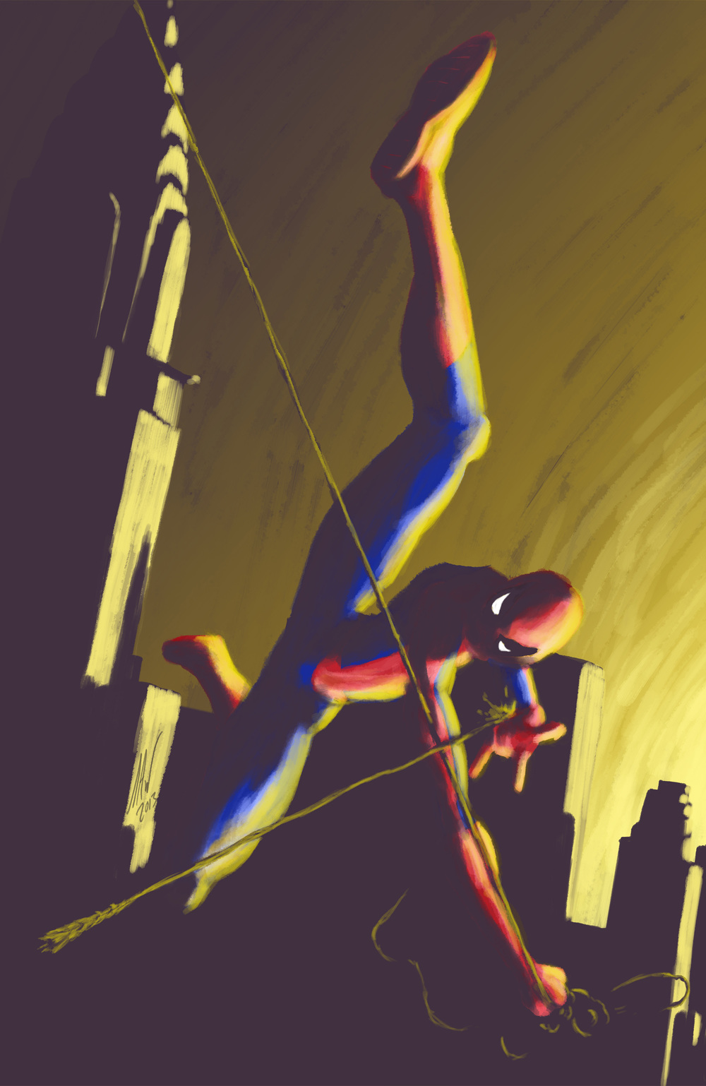 Spiderman-Swinging at Dawn 11x17.jpg