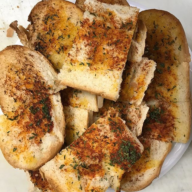 Complimentary garlic bread with each pasta entree. (Lunch Specials are excluded)