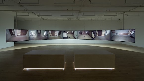 Glen's 7-channel video installation and graphite renderings 🖤 #glenfogel