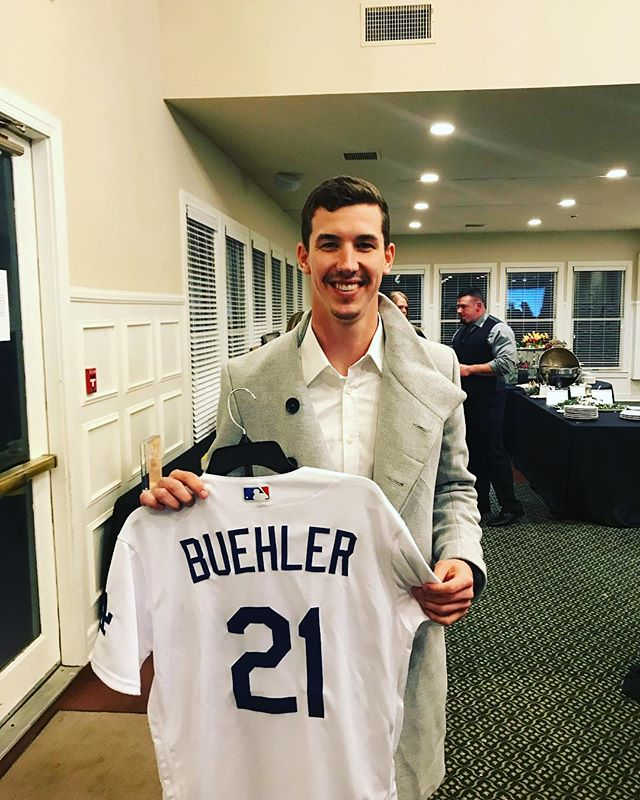 Go to our silent auction to bid on a signed Walker Buehler jersey! Text India to 52182 to bid! #dodgers #walkerbuehler