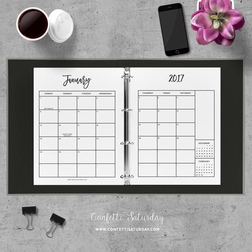 Day Planner Printable  City Series  Confetti Saturday