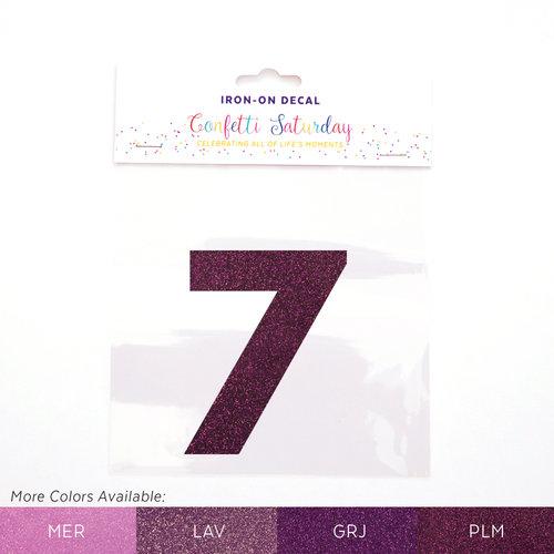 7 iron on decal glitter purple confetti saturday plumtastic purple glitter 7 plm color chartg publicscrutiny Image collections