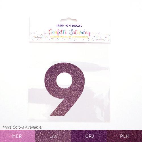 9 iron on decal glitter purple confetti saturday lavender glitter 9 lav color chartg publicscrutiny Image collections