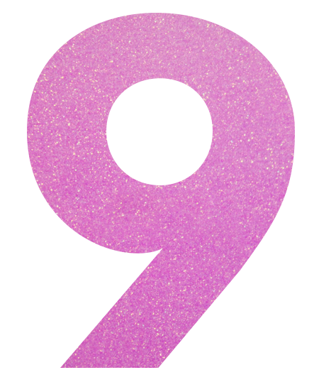 Image result for number 9 purple