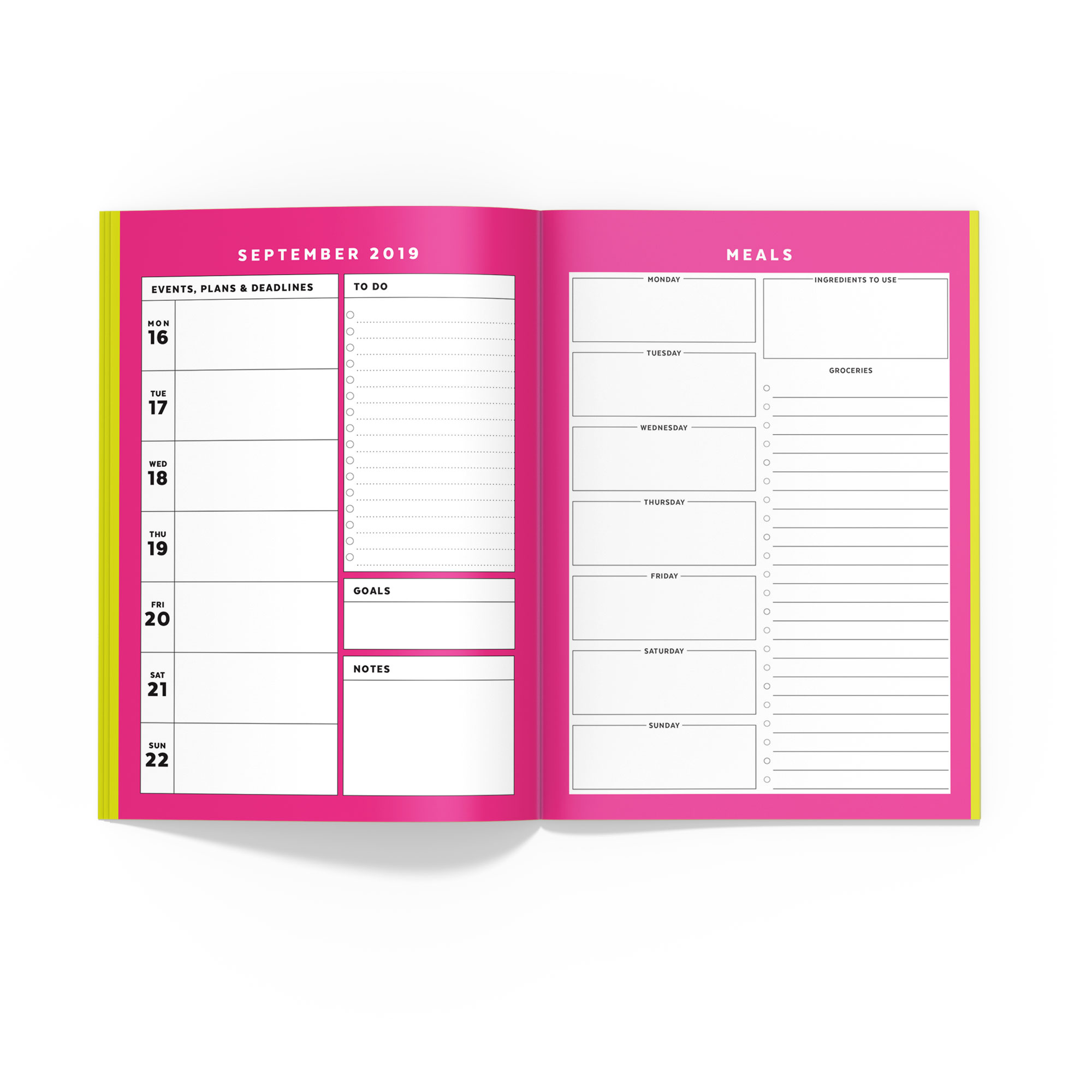 image relating to Free Printable B6 Inserts named Dog Planner // Signature Stripe