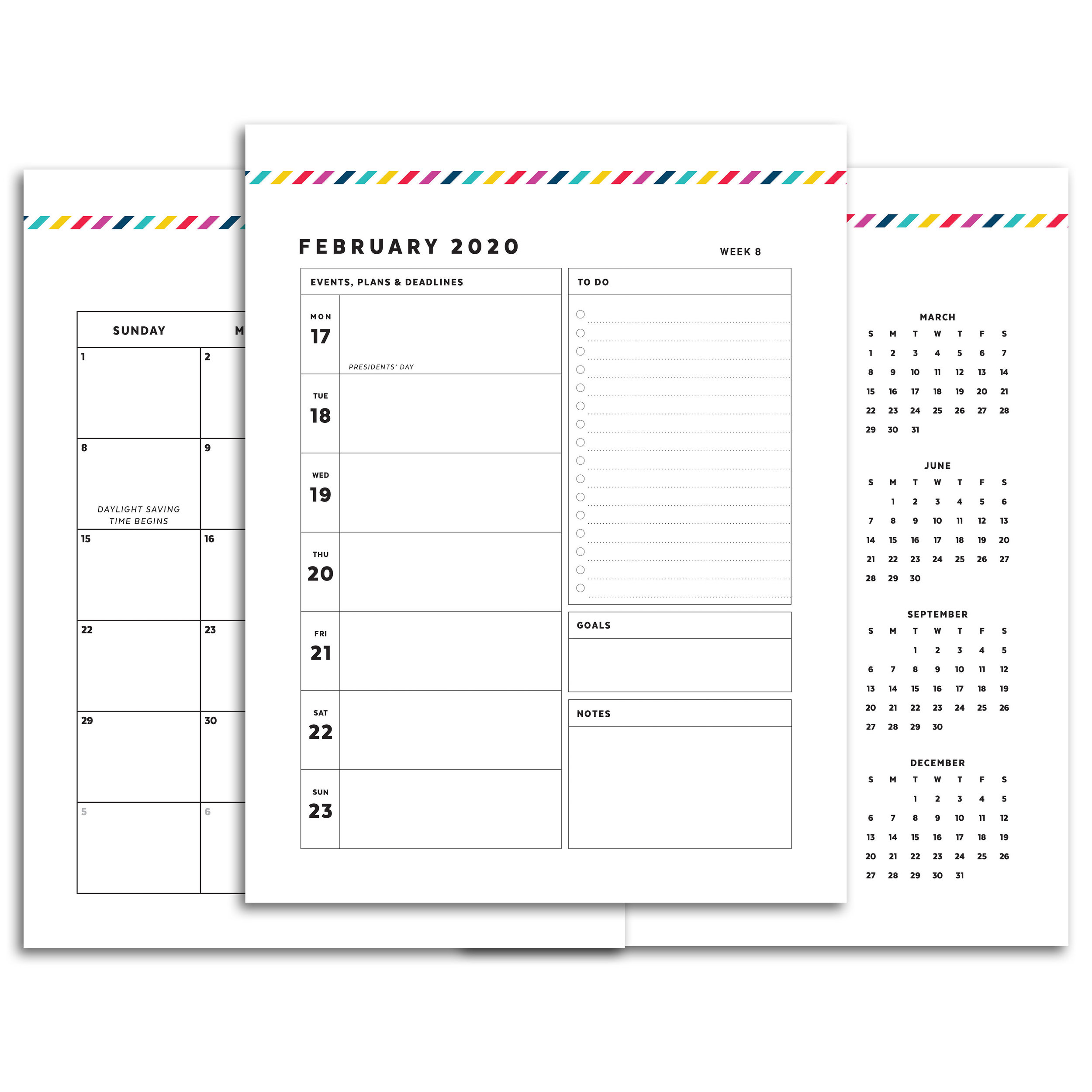 graphic relating to Printable Planners identify Puppy Planner // Signature Stripe