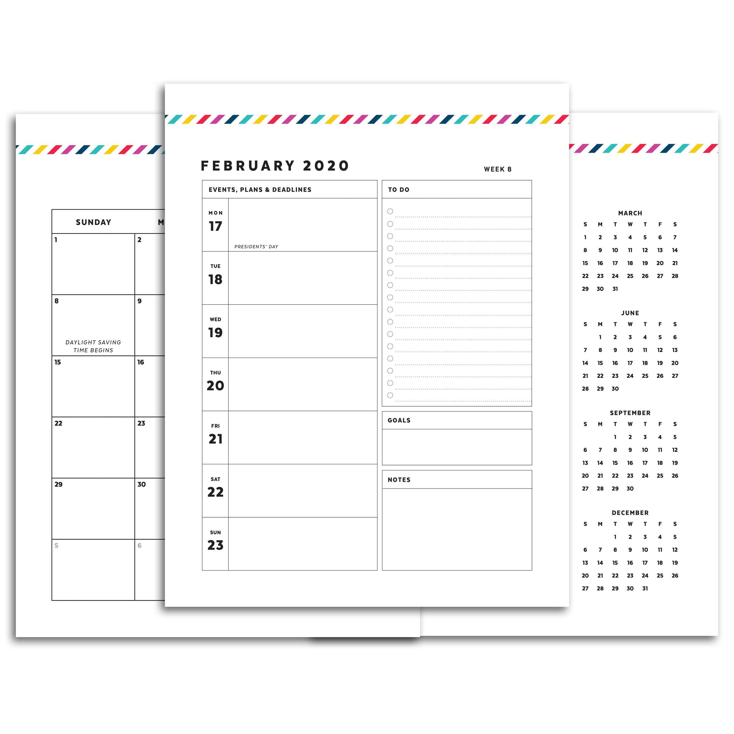 image regarding Printable Planner named Puppy Planner // Signature Stripe