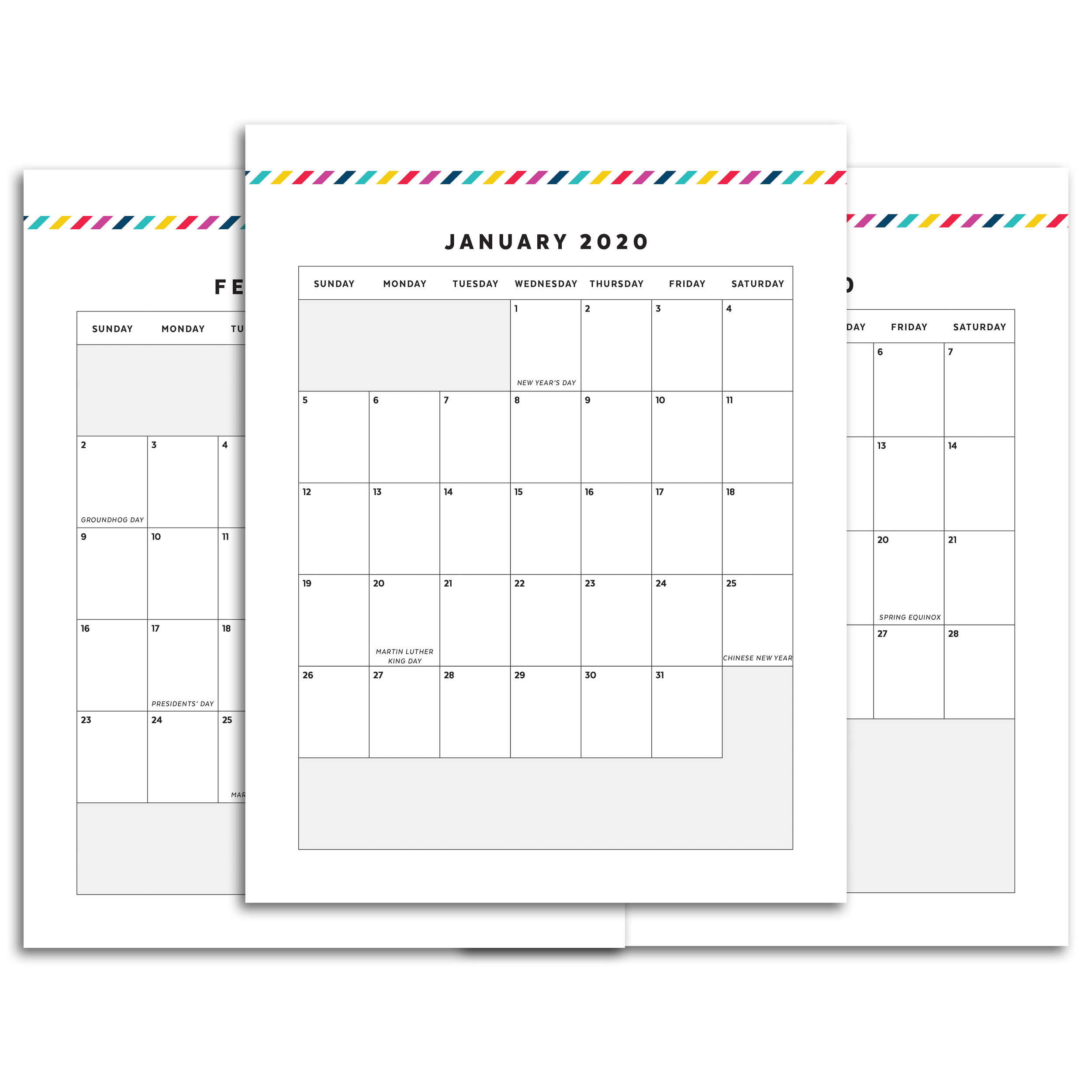 photograph about Printable Planner Calendar identified as Dog Planner // Signature Stripe