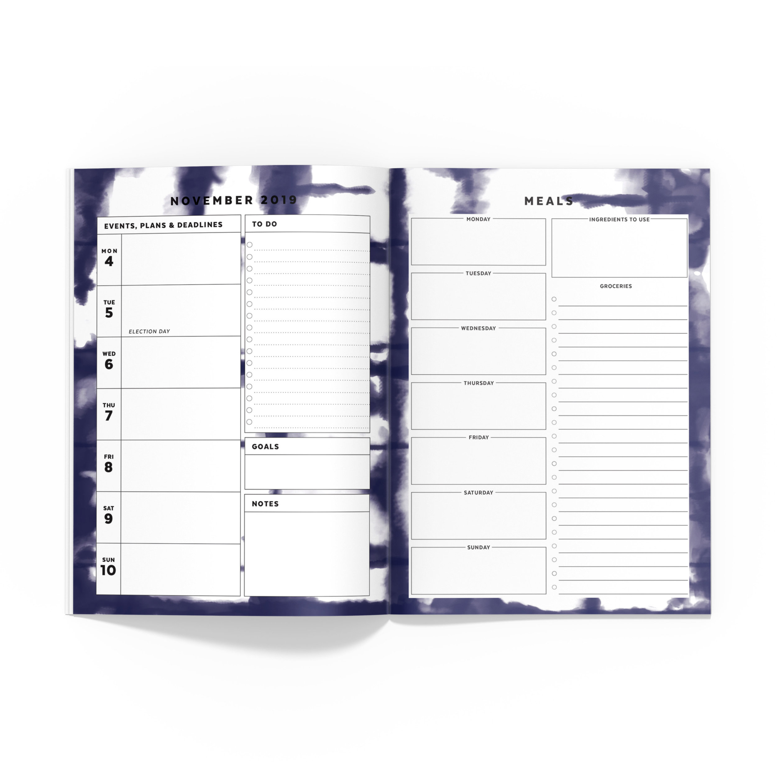 graphic relating to Free Printable B6 Inserts identify Doggy Planner // Signature Stripe