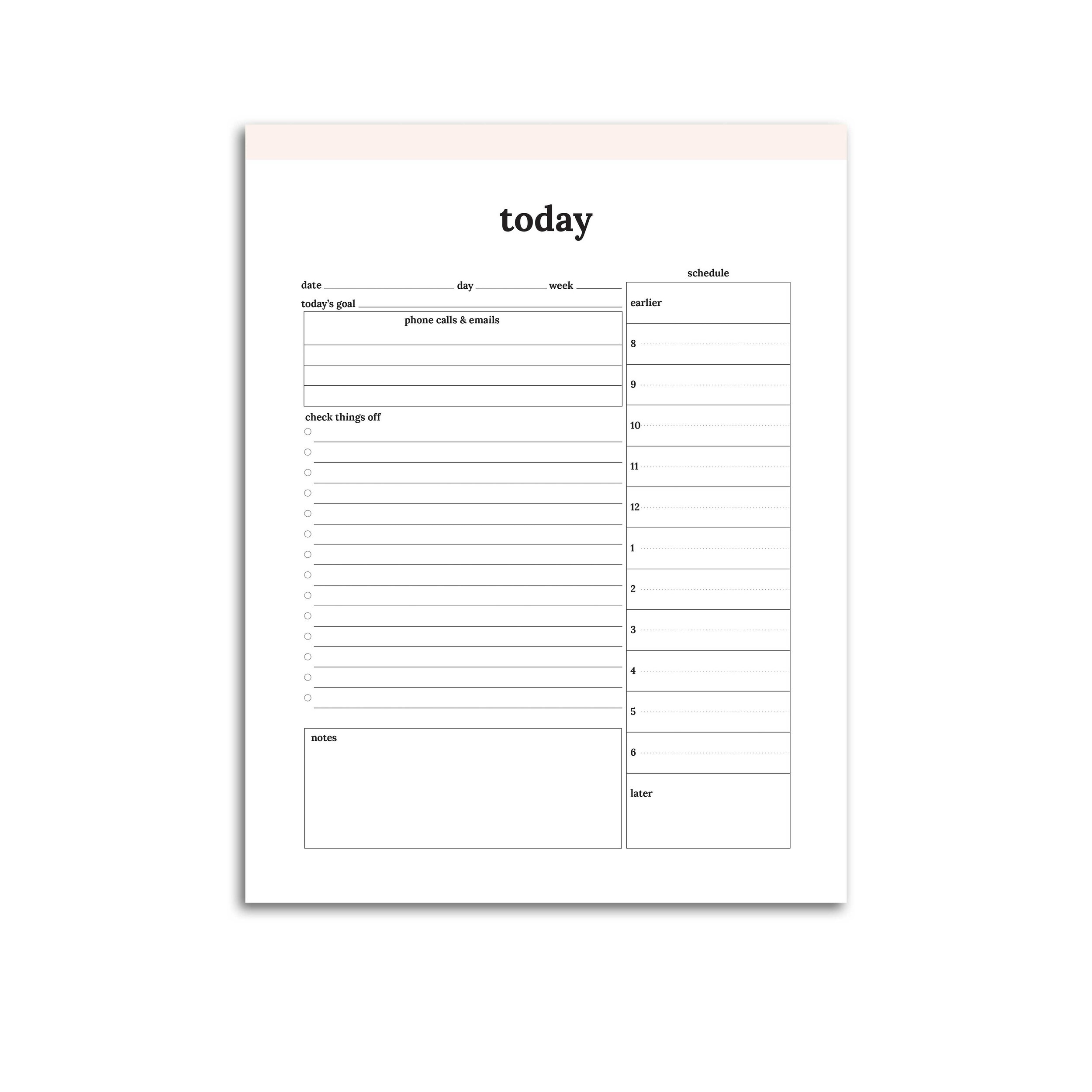 photo about Daily Planner named Day-to-day Planner Printable // Clic Confetti Saay