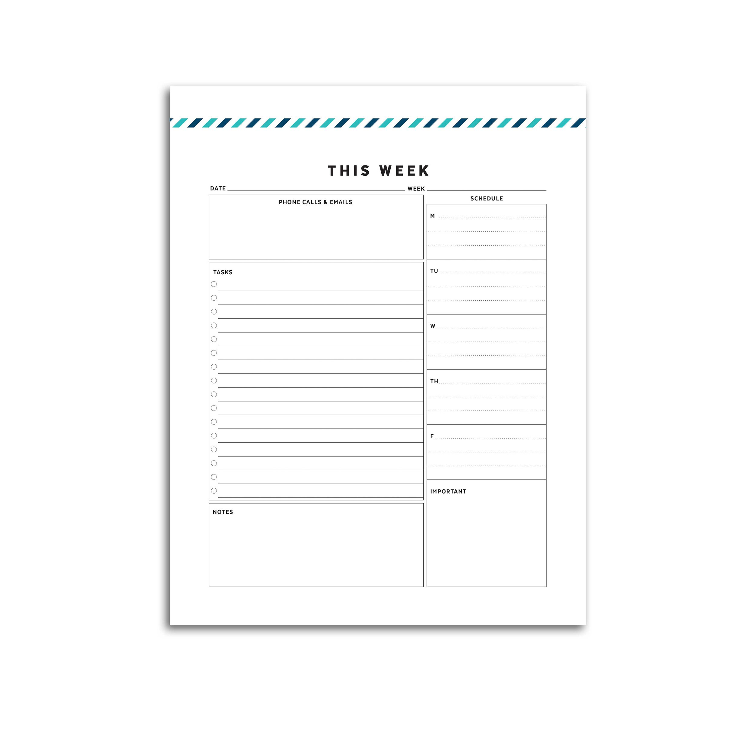 graphic about Weekly Planner Page identify Pet dog Planner // Signature Stripe