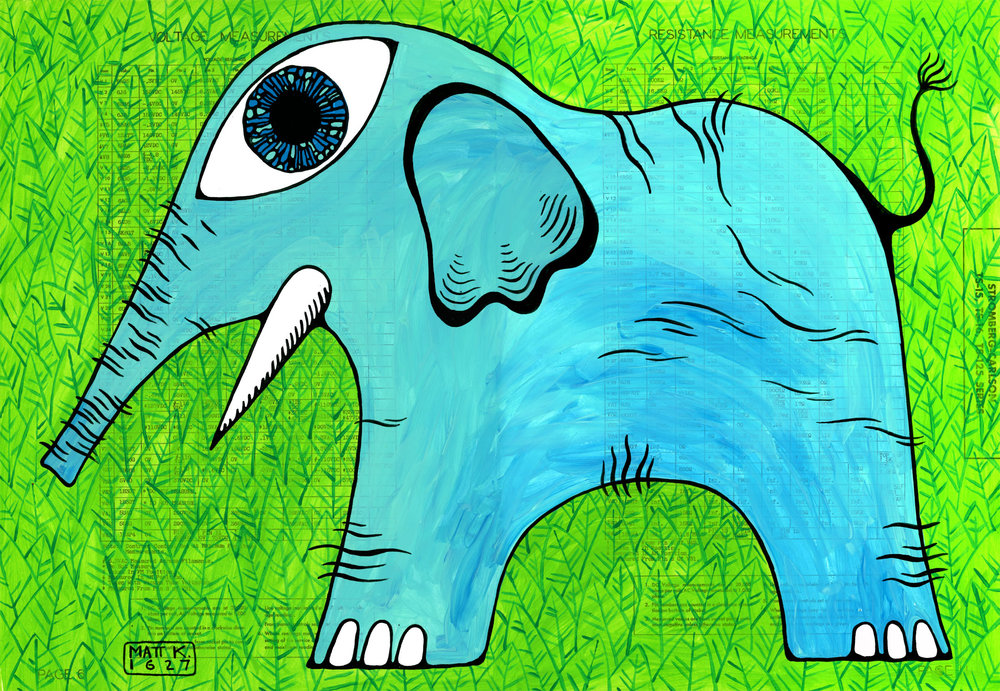 A RADIANT BESTIARY: Elephant