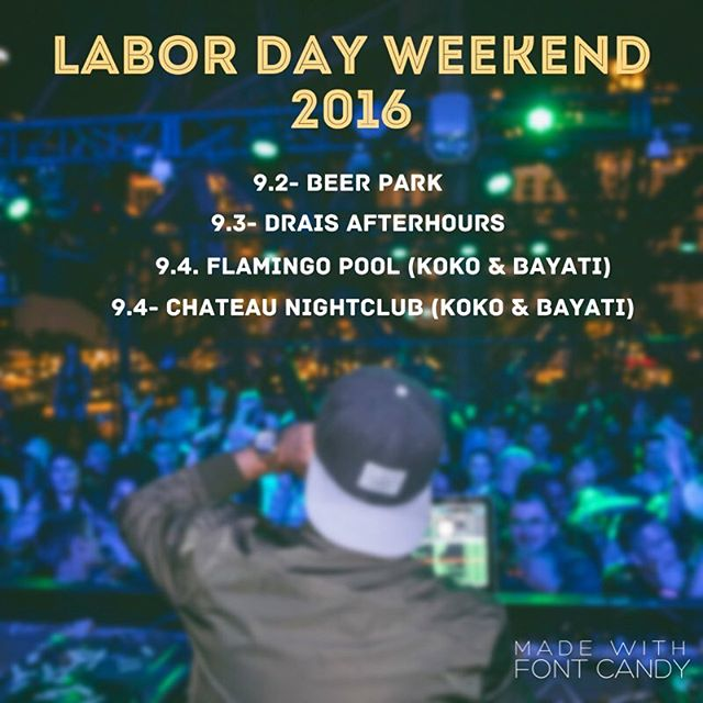 Schedule for weekend! #LDW #vegas #kokoandbayati