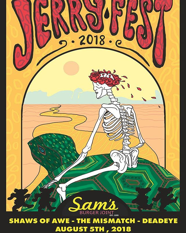 Ahhh yeah, folks! Tomorrow night we're out at the legendary @Samsburgerjoint cooking up tunes for Jerry Fest SA! @shawsofawe will be there, along with @deadeyeaustin. Come get weird with us, y'all. It's gonna be folky fresh. We may have even cooked up a few dead tunes for ya! Door at 4:00! We're on at 6:00.  ALSO, buy your tickets in advance and be entered for a chance to win free tickets to @waterloofest, advance tickets available at samsburgerjoint.com  _________________________________________ #folk #grass #funk #gratefuldead #jerryfest #jerryfestsa #samsburgerjoint #sanantonio #satxmusic #jerrygarcia #mismatchmusic #themismatch #shawsofawe #deadeye #livemusic #americana #funk #funkabilly #waterloo #music #guitar #banjo #fiddle #bass #drums #mandolin #funkgrass