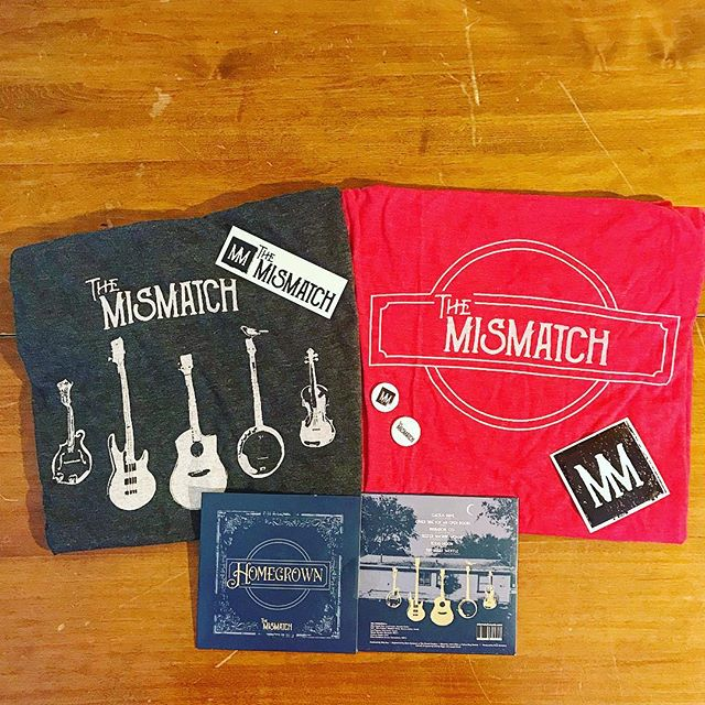 "Hey folks! We've got merch! Like AND comment on this post to be entered for a chance to win a merch bundle including our brand new EP, ""Homegrown."" And then join us this Saturday, August 18th, in South Austin near Manchaca and Stassney at our place for a party in the celebration of new creation. It's gonna be an art gallery and music show featuring all your friends! Live music, live painting, beautiful art, and lovely people! Check out the events section on our FB page for details, or shoot us a DM. There is plenty of wall space for all of you talented visual artists. Come hang out with us.  Feat. @much_2_much_band @josephmachmusic and @aubreyhaysband @fofgalleryshow  __________________________________ #music #newalbum #newmusic #southaustin #houseparty #friendsoffriendsgallery #funkabilly #funkgrass #atxbands #atxmusic #guitar #merch #banjo #themismatch #fiddle #drums #mandolin #contest #likeandcomment #newmerch #bandmerch #epreleaseparty #releaseparty"