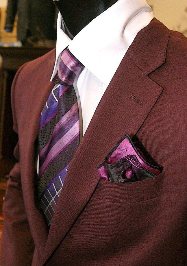 Burgundy Suit from Hot Sams Detroit