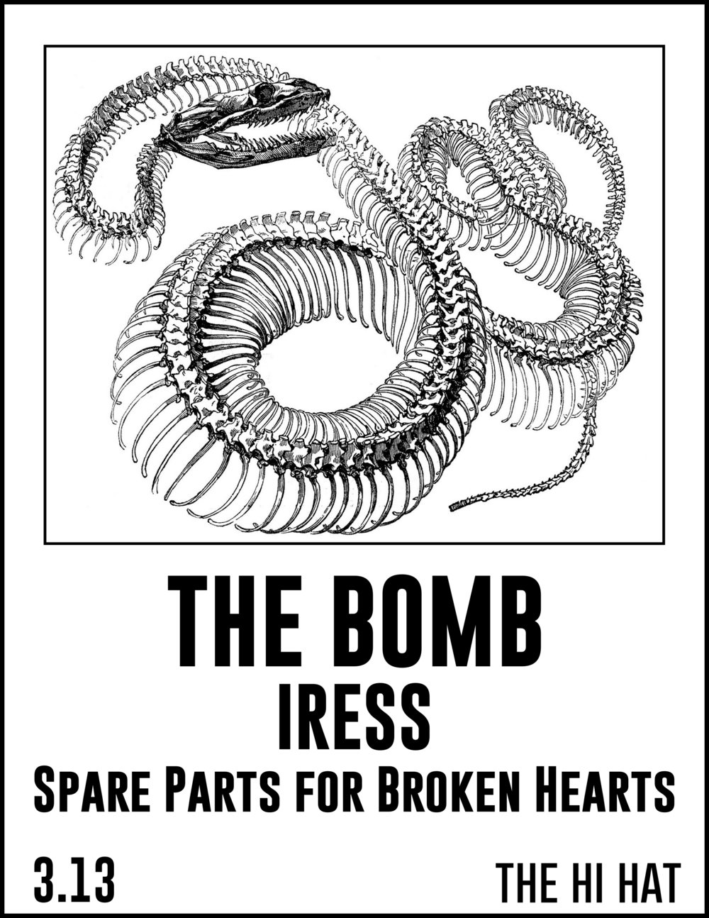 Get urs  http://ticketf.ly/2lRVcw6  $6.00 - $8.00; 21+   PLAG RECORDS PRESENTS:   The Bomb  Spare Parts For Broken Hearts   Iress   At The Hi Hat