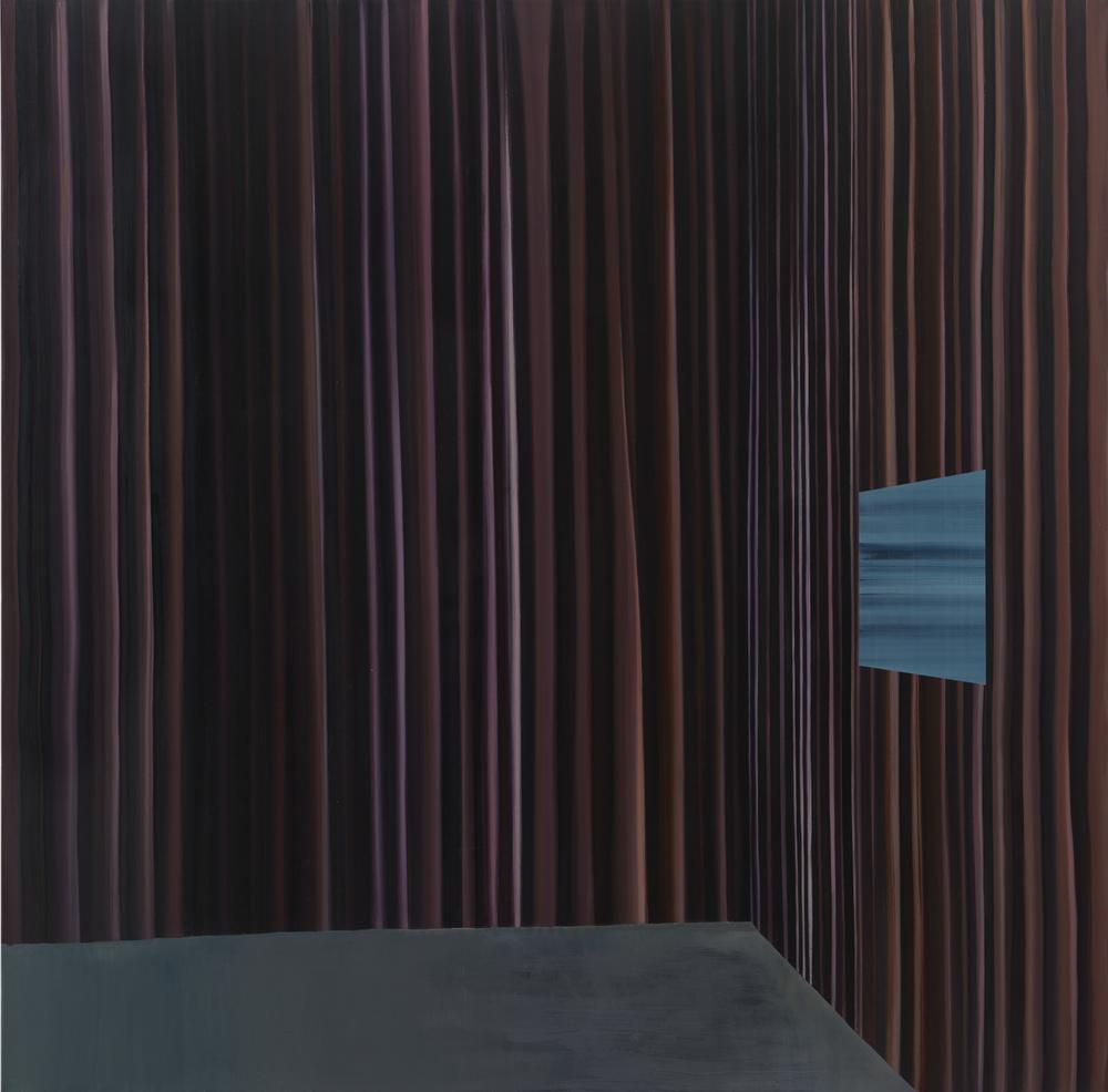 Curtain #1 窗帘 1, 2013 Oil on linen 亚麻上油画 56 x 56 in.