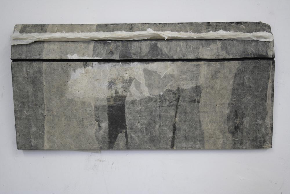 Lin Yan, My Street 我的街道, 2013. Ink, wax and Xuan paper. 10 x 12 x 2 in. (25.4 x 55.9 x 5.1 cm) ©2017 Lin Yan, Courtesy Fou Gallery.