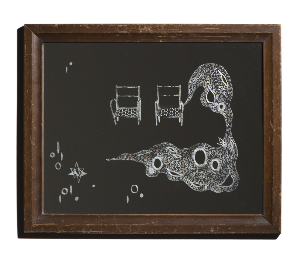 1/9, 2014 Mirror, found object 12.75 x 15.75 in. (32.4 x 40 cm)