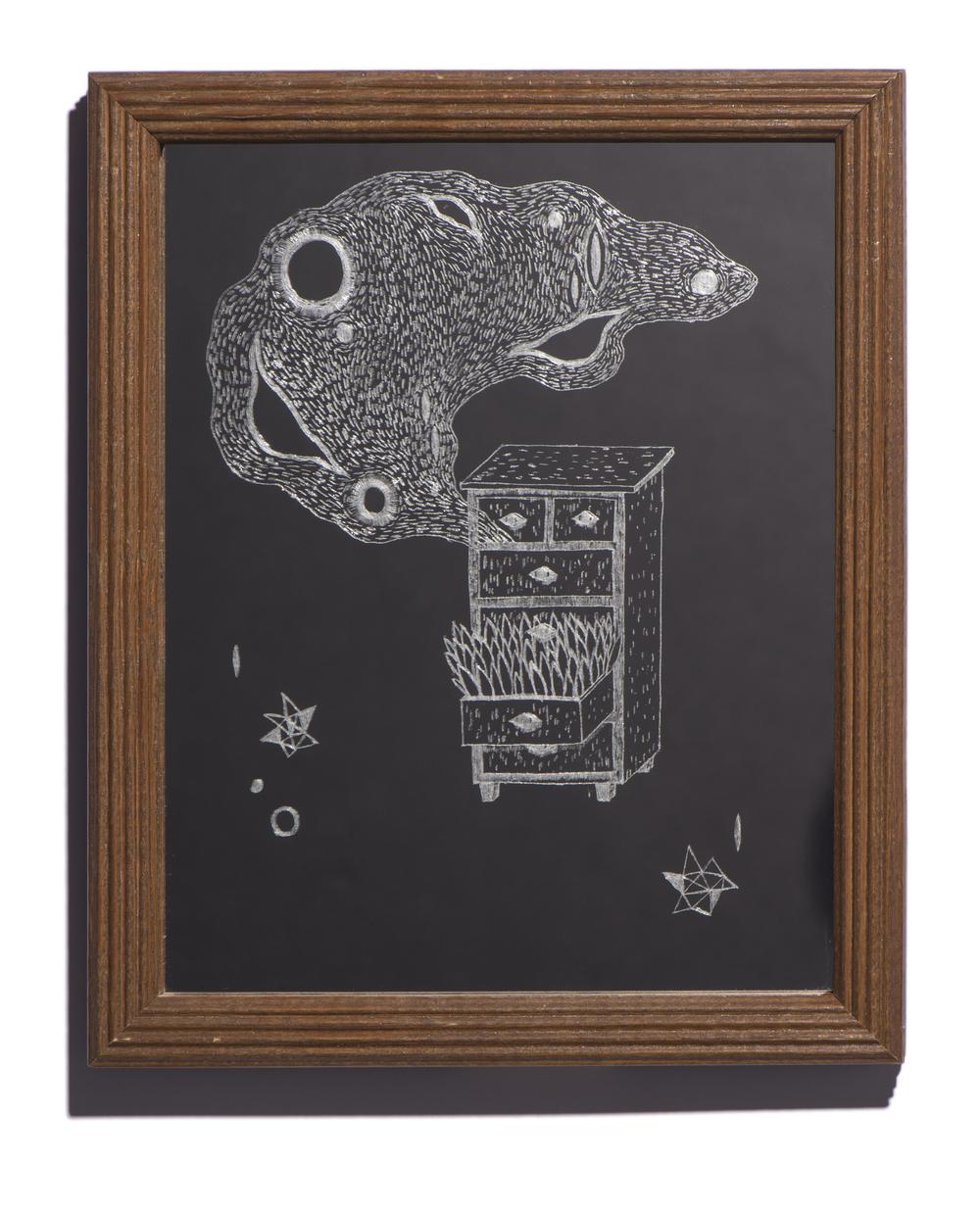 2/9, 2014 Mirror, found object 9 x 11.25 in. (22.8 x 54 cm)