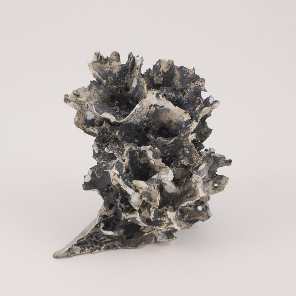 Urban Sprawl 9  ,  Stoneware, underglaze, acrylic,   6.75 x 7 x 5 inches, 2016