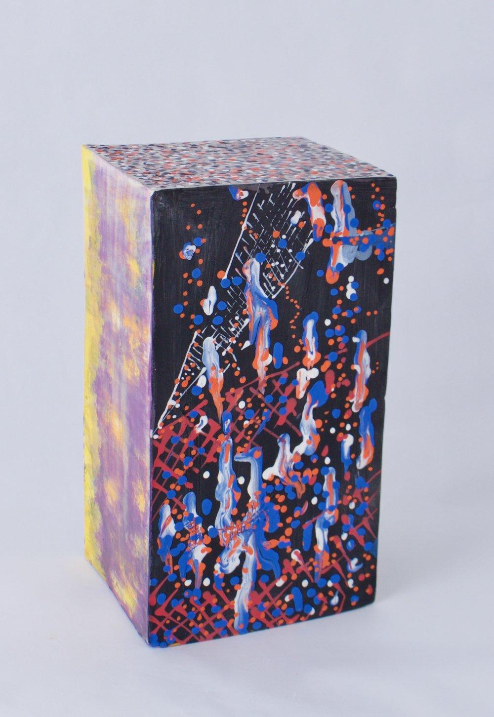 Perspective Projection 3,   Stoneware, underglaze, glaze, 10.5 x 5.5 x 5 inches, 2016