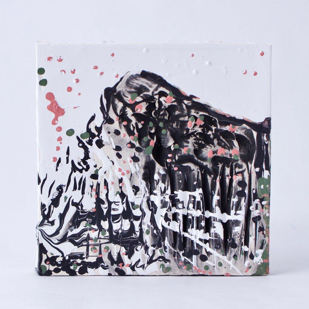 Complementary 1  ,  Stoneware, underglaze, mix medium, 6.25 x 6.5 x 1.5   inches, 2016