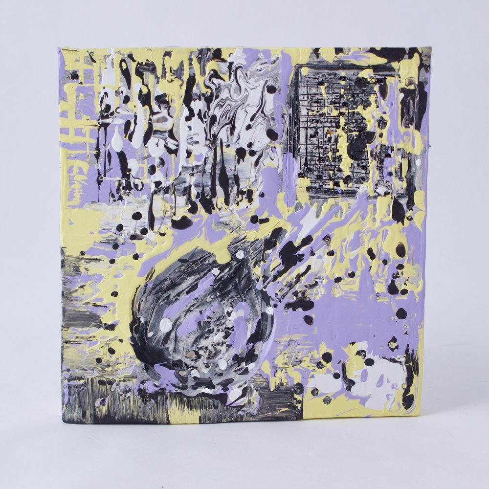 Complementary 2  ,   Stoneware, underglaze, mix medium, 6.25 x 6.5 x 1.5   inches, 2016