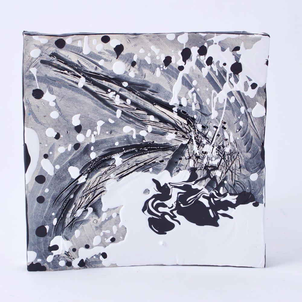 Complementary 4  ,   Stoneware, underglaze, mix medium, 6.25 x 6.5 x 1.5   inches, 2016