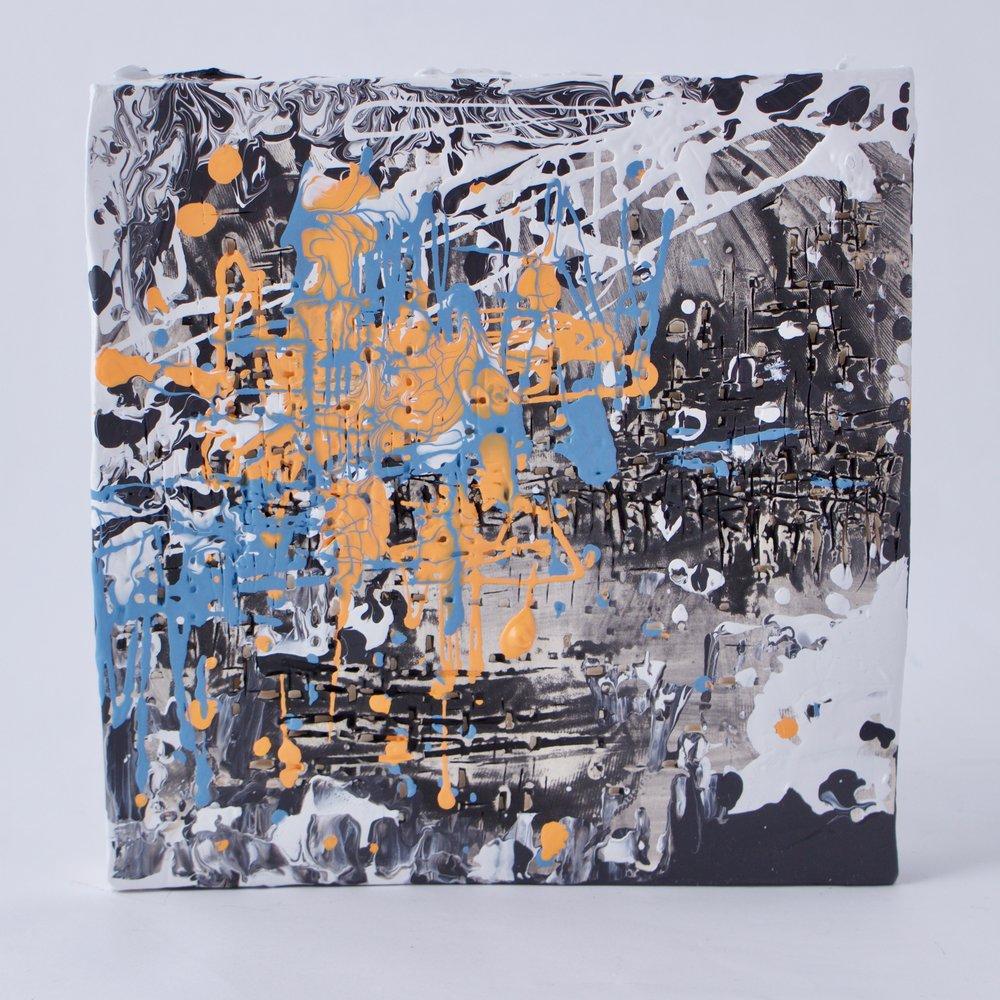 Complementary 5  ,   Stoneware, underglaze, mix medium, 6.25 x 6.5 x 1.5   inches, 2016