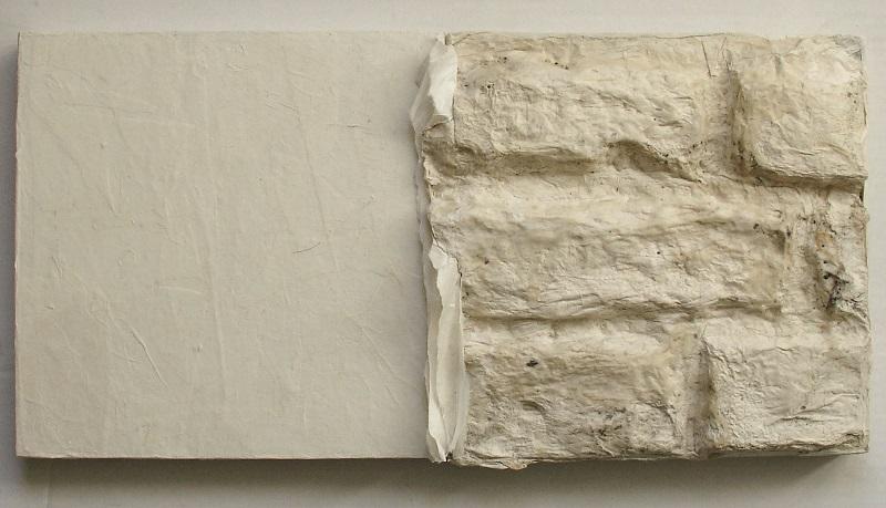 Lin Yan, Return Home #1 回家 #1,  2015, Xuan paper on wood board, 8 x 16 x 1.5 in. (20.5 x 41 x 4 cm) © 2017 Lin Yan, Courtesy Fou Gallery.