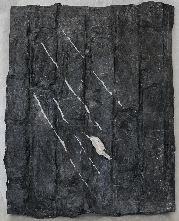 Drizzling #3 细雨 #3 ,Ink, Xuan paper on wood board, 20.5 x 16 in. (52 x 41 cm), 2016