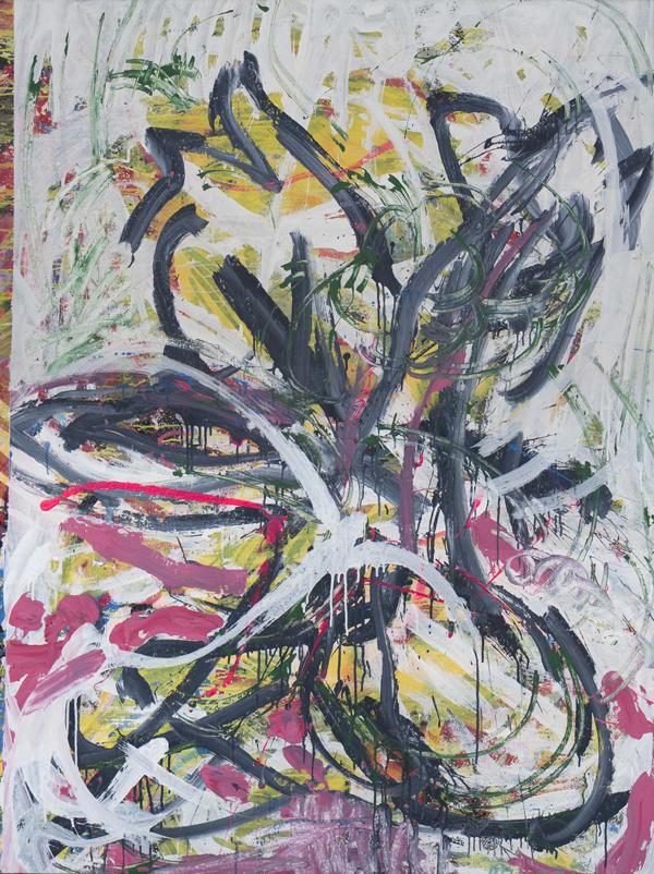 Chen Dongfan,  Still LIfe , 2018,acrylic on canvas, 72 x 54 in. © Chen Dongfan, courtesy Fou Gallery 陈栋帆,大静物,2018,布面丙烯,182.9 x 137.1 cm © 陈栋帆,致谢否画廊