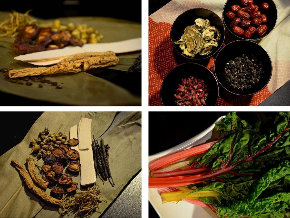 Herbal ingredients for the special dessert tasting menu. Photograph by Yuan Wang.袁望特别测试中草药的甜味之旅菜单,采用中式草药,融入西式和日式的食材。摄影:袁望