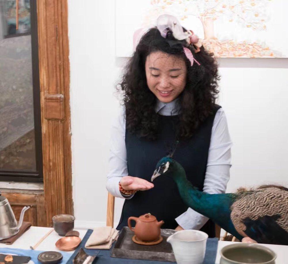 Mai Tian at Fou Gallery in 2017 2017年11月麦田在否画廊举行茶会