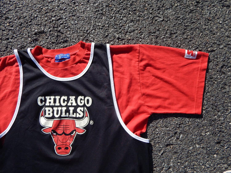 Vintage Starter Chicago Bulls Layered Basketball Jersey - Shirt — HAUS OF  VAIN b40d143a30d6