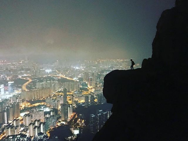 HK by night! #suicidecliff #dontjump