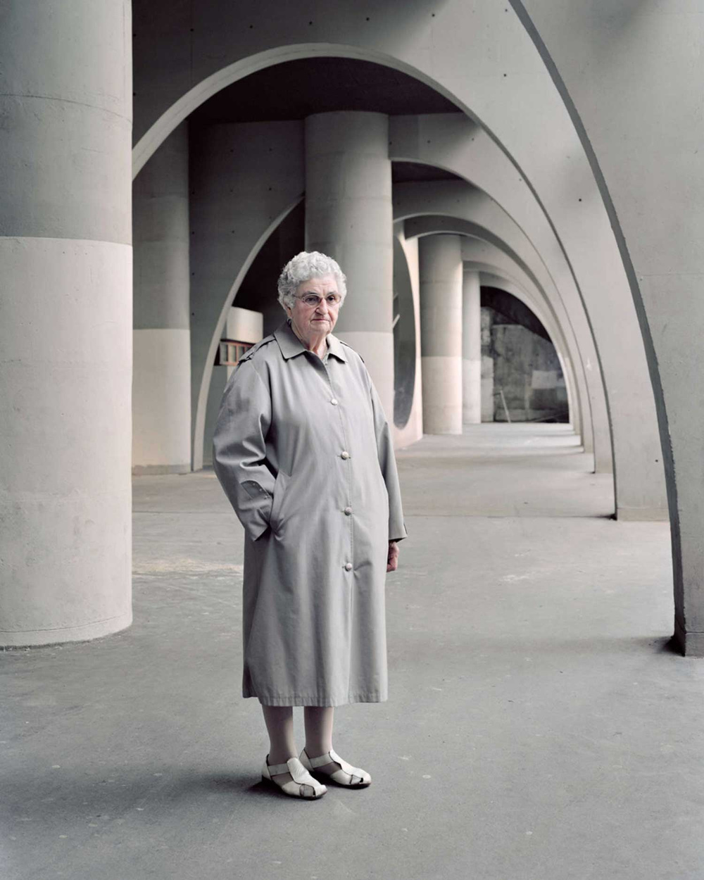 Denise, 81, photographed in 2015 at Renée Gallhoustet's Cité Spinoza, Ivry-sur-Seine, built in 1973.