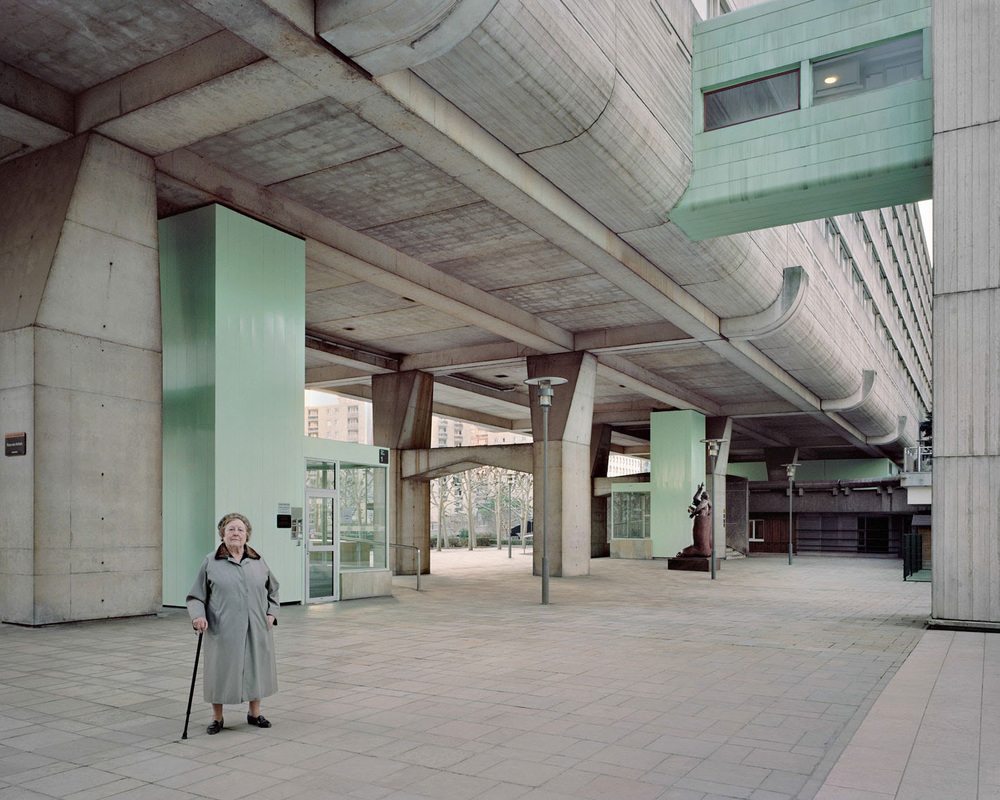 Josette, 90, photographed in 2013 at Vision 80, Esplanade de La Défense by Jean Pierre Jouve, Andrei Frieschlander and Charles Mamfredos.