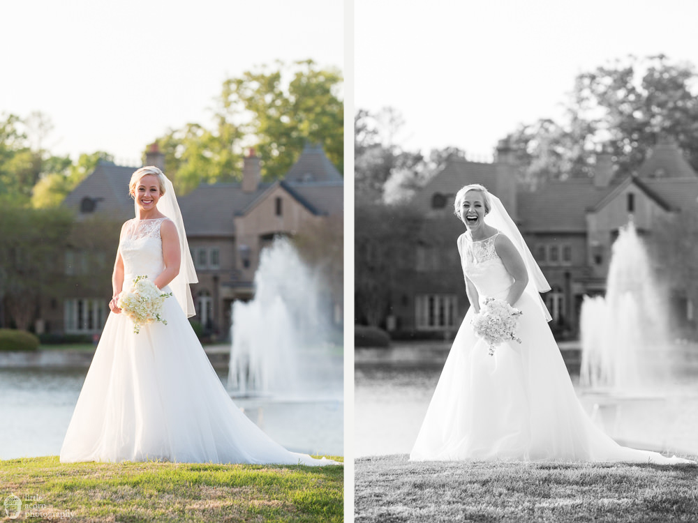 Photos of Emily Younker's bridal portrait session at the Wynlakes Country Club by Alabama wedding photographers Little Acorn Photography (Luke & Jackie Lucas).