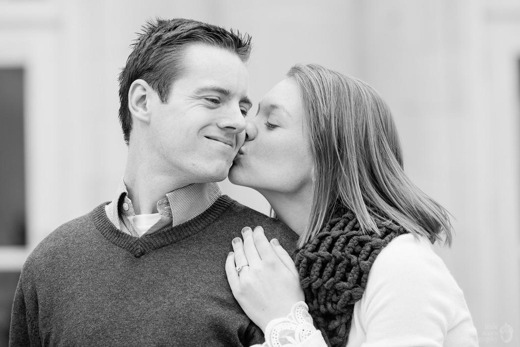 Photographs from Rebekah & Jared's Auburn, AL engagement portrait session by Alabama wedding photographers Little Acorn Photography (Luke & Jackie Lucas).