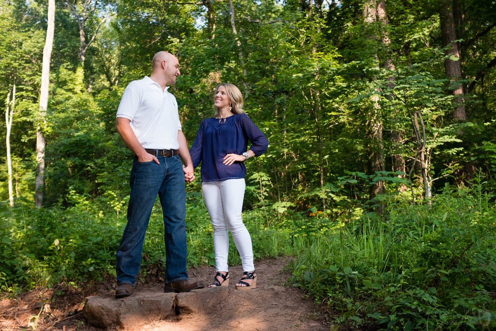 Photographs from Allison & Wesley's Birmingham, AL engagement portrait session by Alabama wedding photographers Little Acorn Photography (Luke & Jackie Lucas).