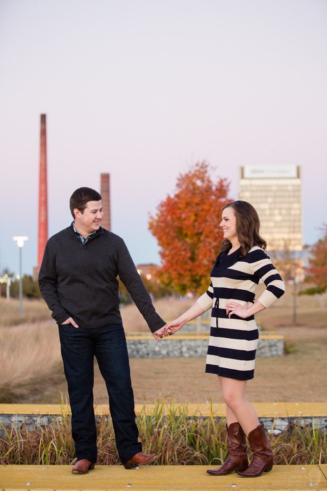 Photographs from Brittany & Brandon's Birmingham, AL engagement portrait session by Alabama wedding photographers Little Acorn Photography (Luke & Jackie Lucas).