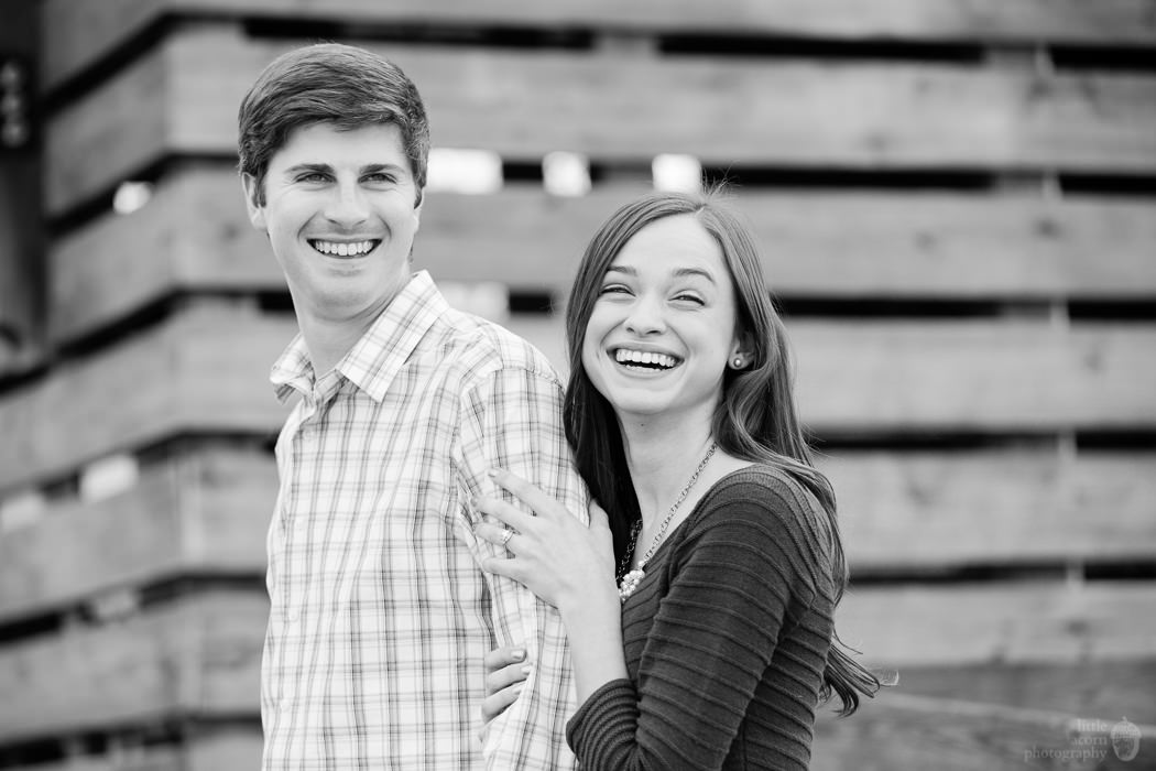 Photographs from Chelsea & Drew's engagement portrait session at The Waters by Alabama wedding photographers Little Acorn Photography (Luke & Jackie Lucas).