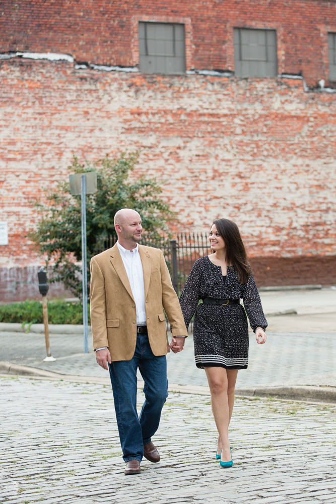 Photographs from Courtney & Jay's Birmingham, AL engagement session by Alabama wedding photographers Little Acorn Photography (Luke & Jackie Lucas).