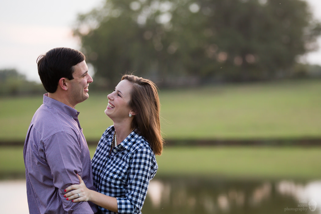 Photographs from Adrienne & Webb's engagement portrait session at The Waters by Alabama wedding photographers Little Acorn Photography (Luke & Jackie Lucas).